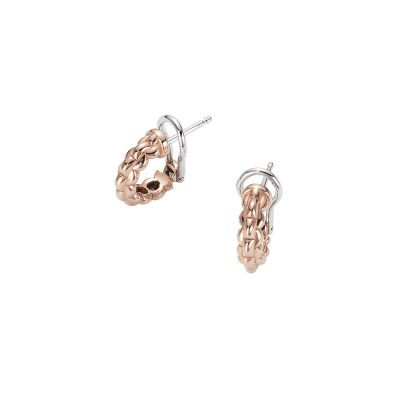 Fope 18ct Rose & White Gold Eka Tiny Earrings
