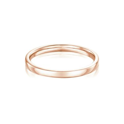 Suzanne 18ct Rose Gold Plain Wedding Band